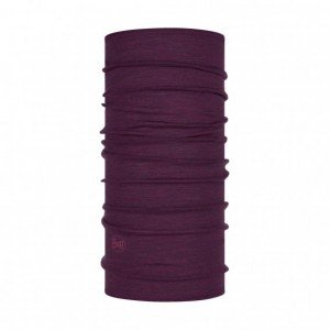 Merinowolle Multifunktionstuch Lightweight Purplish Multi Stripes